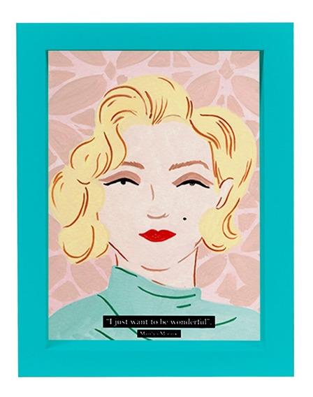 Cuadro Marilyn Monroe Aqua 15x21 Decoración Morph