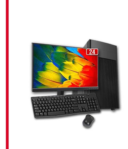 Pc Core 2 Duo, 8gb Ram Ddr3, Hd 500gb, Completo Monitor 24