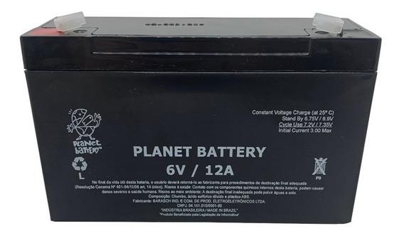 Bateria Selada 6v 12a Planet Battery