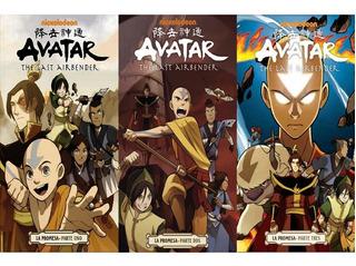 Avatar Leyenda De Aang La Promesa Kamite 3 Tomos Completo