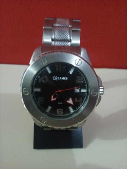 Relógio X Games Gear Aço Gigante Original