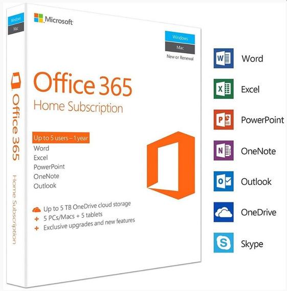 Microsoft 365 Family / Office 365 Assinatura 1 Ano 6 Pessoas