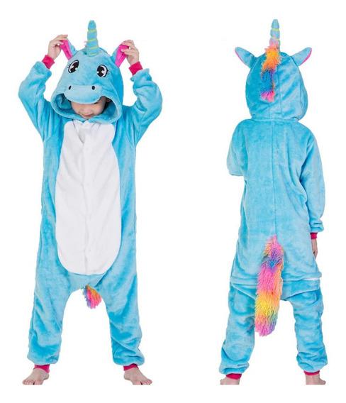 Kigurumi Niñas Pijama Mameluco Disfraz Unicornio Arcoiris