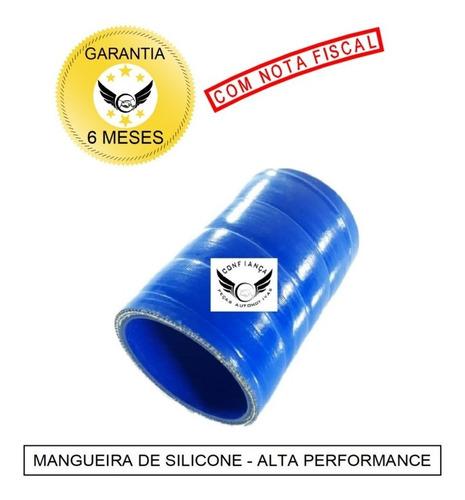 Imagem 1 de 5 de Mangueira Mangote Silicone 2 1/4 X 100mm Pressurização Azul