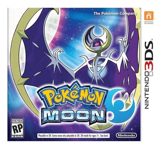 Pokemon Moon 3ds - Usa - Carta Registrada