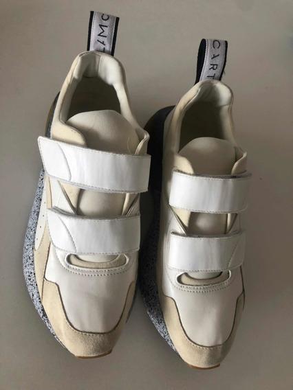 Zapatillas Stella Mccartney Originales Blancas Beige 40 Gamu