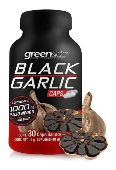 Ajo Negro Black Garlic 1000mg Por Toma 30 Cápsulas Greenside