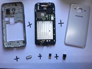 Carcaça Samsung Branco J2 - J200bt Completa