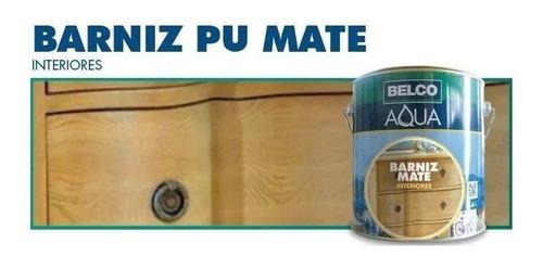 Barniz Pu Belco Aqua Mate Interior 0.9 Lts - Ynter