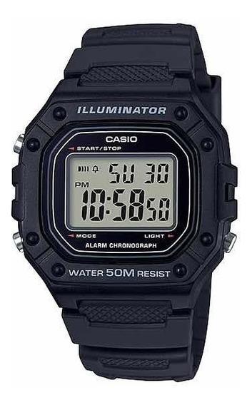 Relógio Casio Unissex W-218h-1av Preto