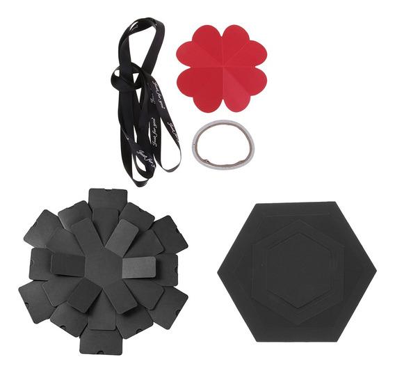 Hexagon Explosion Box Diy Scrapbook Foto Álbum Para Valentin