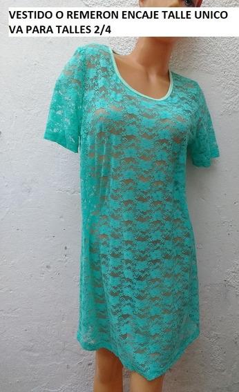 Remerones Largos/vestidos Encaje Para Talles 2 Al 4