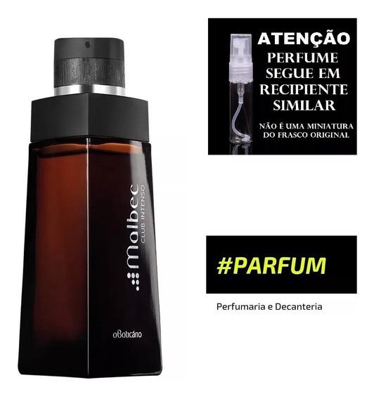 Decant Amostra Perfume 10ml Malbec Club Intenso O Boticario
