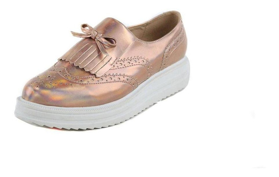 Calzado Dama Mujer Zapato Clasben Tipo Piel Rosado Comodo