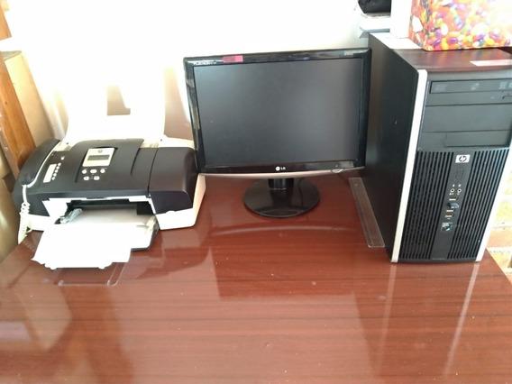 Computador Pc Cpu Hp Com Oferta Tela Hp E Impressora Hp