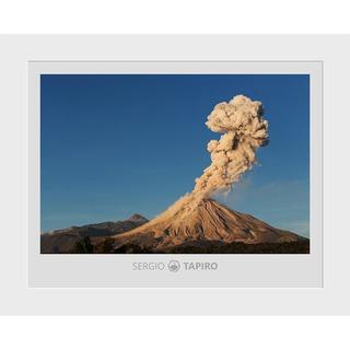 Interrogante, 37x29cm. Foto Del Volcán De Colima.