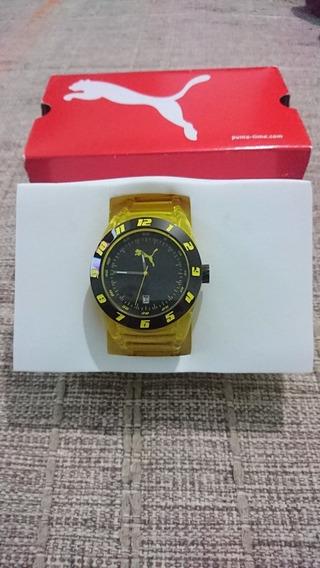 Relógio Puma Amarelo Transparente Pu0910482004