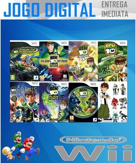 Wii -7 Super Jogos Ben 10 - Digital - Receba Agora !