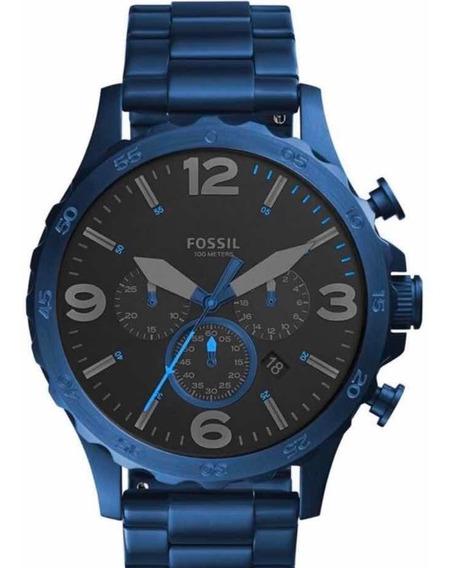 Relógio Fossil Masculino Azul Big Case - Garantia Jr1530/4pn