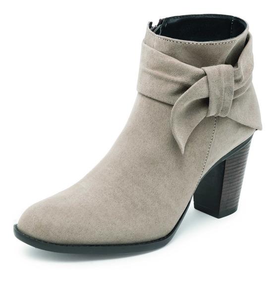 Botín Dama Tacon Color Arena Zapato Mujer 2716, Envio Gratis