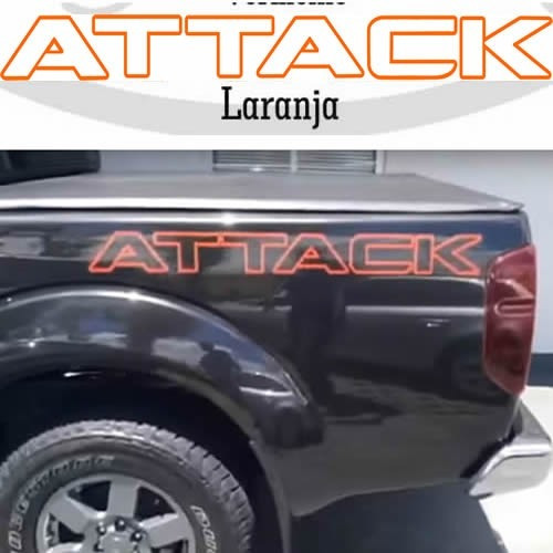 Adesivo Nissan Frontier Attack Dois Lados Esse N Desbota!