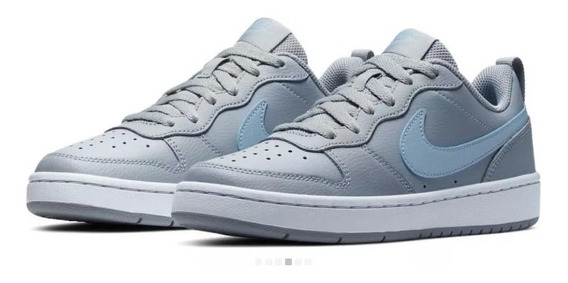 Tenis Nike Court Borough Low 2 Ep Gs | Mujer Gris Ck0593-001