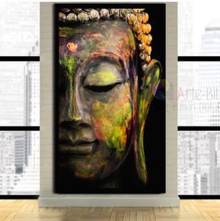Cuadro Buda Black Xl- Impreso Canvas- Calidad De Museo