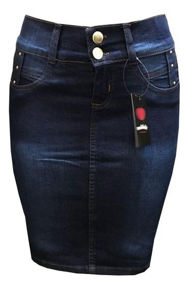 Kit 3 Saia Jeans Lycra Moda Evangélica Promoção Relâmpago