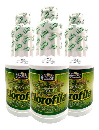Imagen 1 de 4 de Clorofila Liquida Ypenza 500ml Concentrado De Greenleaf(3pz)