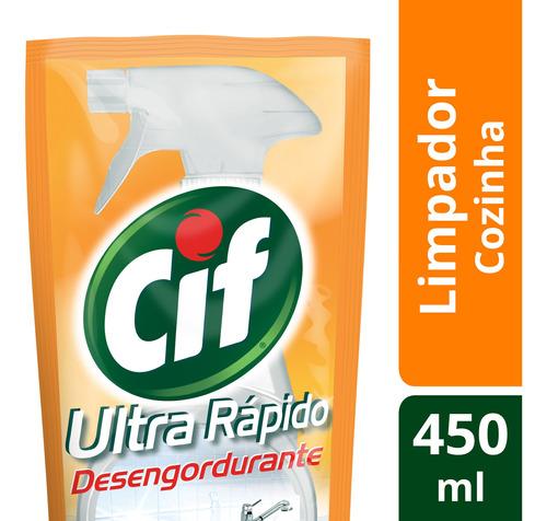 Limpador Removedor Gorduras Cozinha Cif 450ml Refil