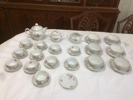 Juego De Te Y Cafe Porcelana Verbano Floral Antigua 37 Piezas Excelente