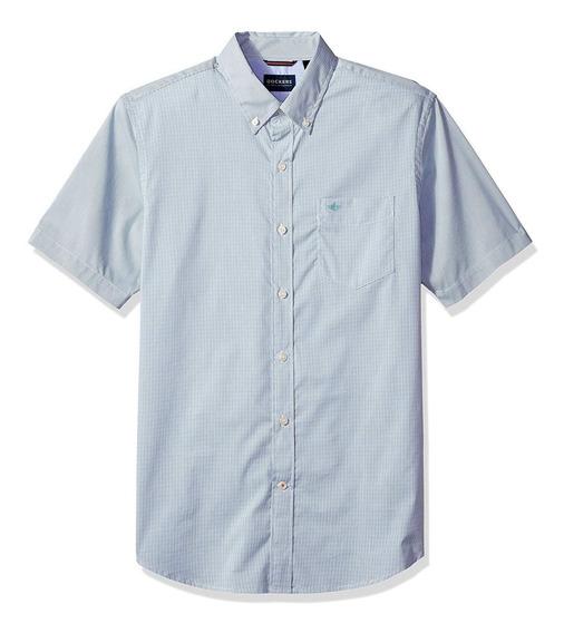 Dockers - Camisa Manga Corta Para Hombre, C: Micro Check T