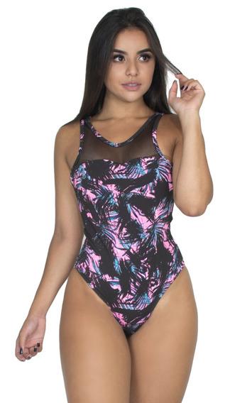 Kit 5 Body Cavado Tulle Estampado Collant Feminino Moda 177