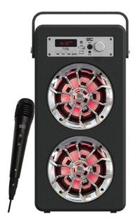 Parlante Con Microfono Gtc Spg-113 Karaoke Tarjeta Sd Usb