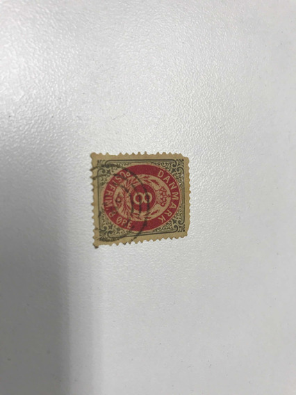 Estampilla Danesa Emblema Real