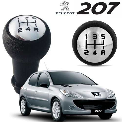 Imagem 1 de 4 de Manopla Bola Cambio Preto / Cromado Peugeot 207 206