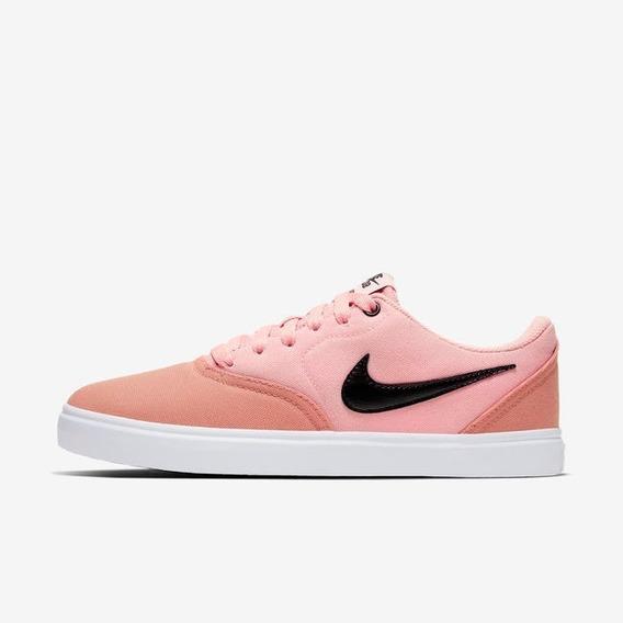 Zapatillas Nike Sb Check Cnvs Mujer Rosa Lona
