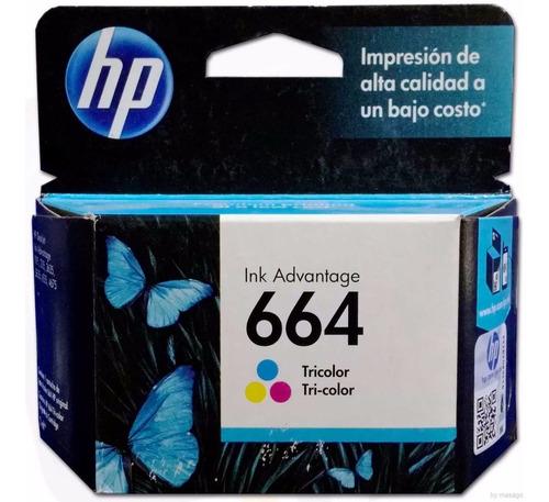Cartucho Tinta Hp 664 Color F6v28al Original 1115 2135 2675
