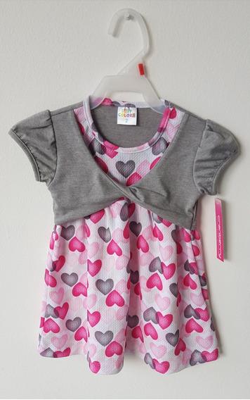 Vestido Para Niña De Corazones