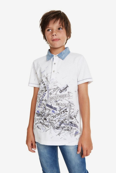 Camiseta Polo Niño Textil Blanco Desigual