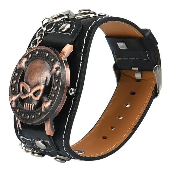Relógio Bracelete De Couro