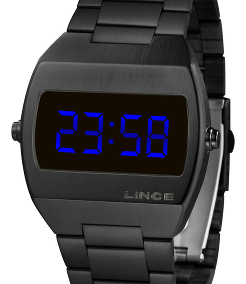 Relógio Lince Unissex Digital Quadrado Preto Mdn4621l Dxpx