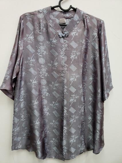 Casaquinho Blusa De Seda Chinesa Furtacor