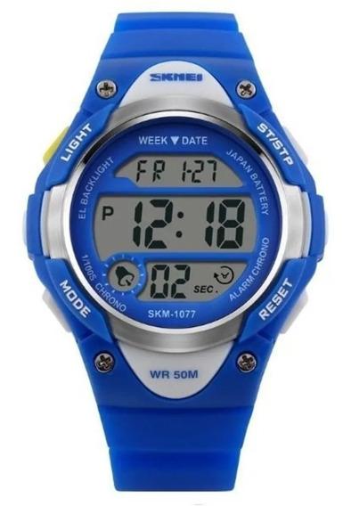 Relógio Infantil Criança Skmei 1077 Prova D Água + Box