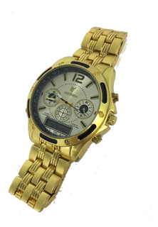 Relógio Masculino Potenza Analógico/ Digital Pulseira Metal