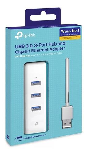 Imagen 1 de 4 de Tp Link Ue330 Usb 3.0 3-port Hub & Gigabit Ethernet Adapter