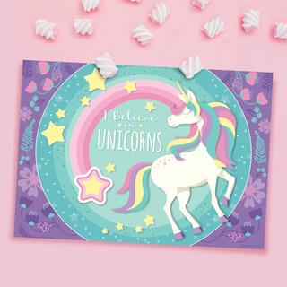 Manteles Individuales Descartables Unicornio Cotillón