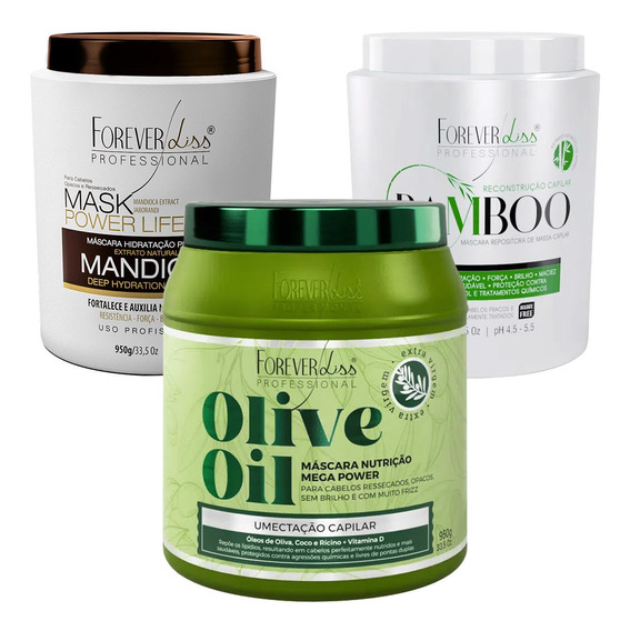 Cronograma Forever Liss Mascara De Bamboo Olive Oil Mandioca