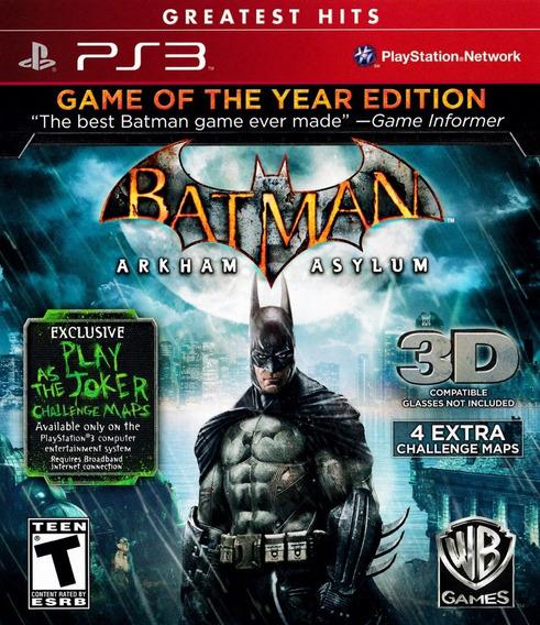 Batman Arkham Asylum Ps3 Novo Lacrado Midia Fisica