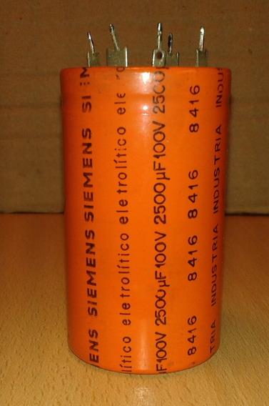Electrolíticos Siemens 2500 Uf X 100 Volts Usados